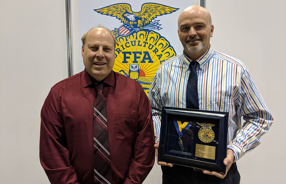 Barber receives FFA honor as group attends national convention